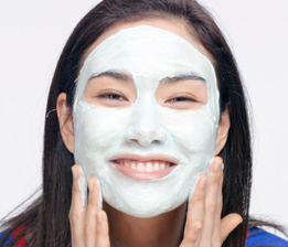 B.Smooth the mask over the entire face and neck