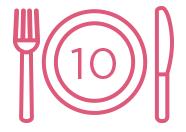10 repas scolaires distribués.