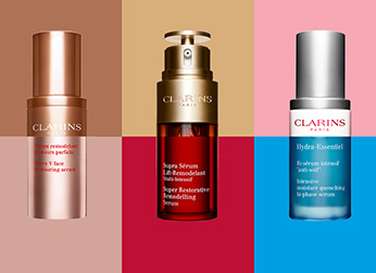 Composition of Clarins serums