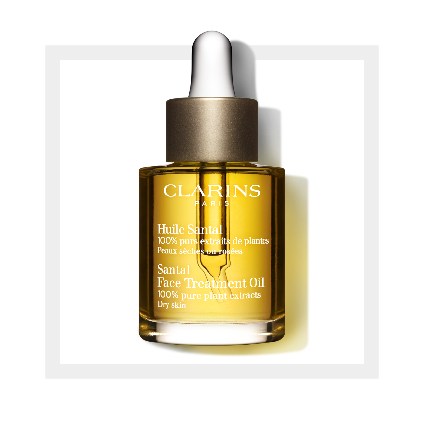 Clarins Santal Face Treatment Oil, 1 Oz MOISTRZR,UNDER AGE, 1 FZ By Kiss My Face
