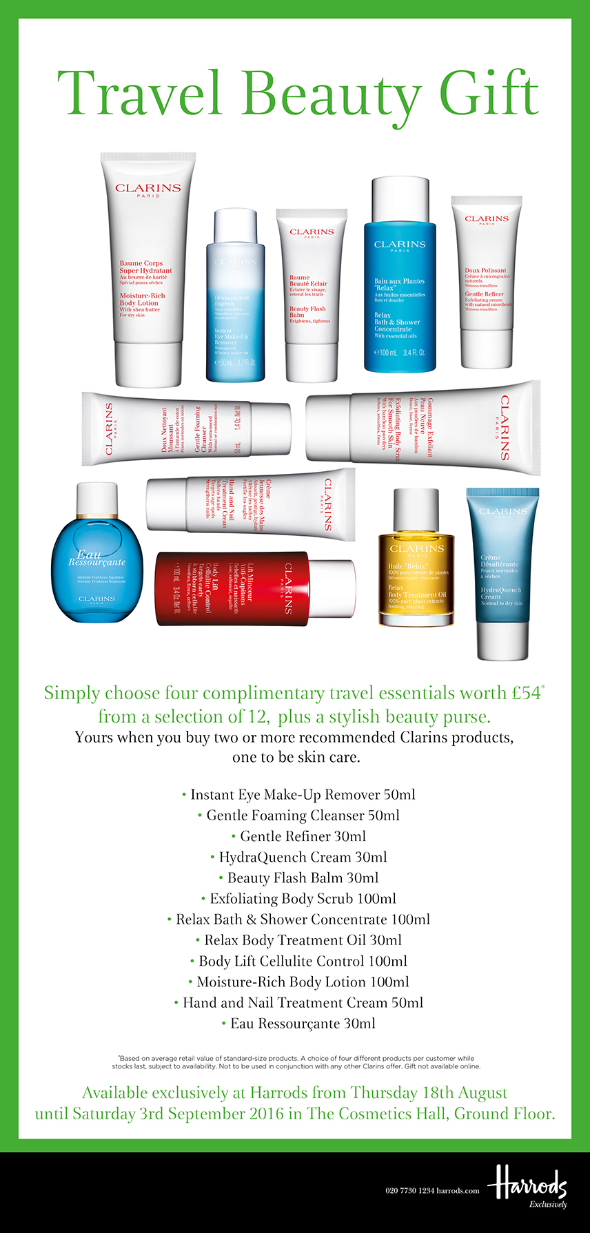 Harrods Travel Beauty Gift Clarins
